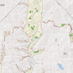map of Mixed Oak / Heath Forest in Rock Creek Park